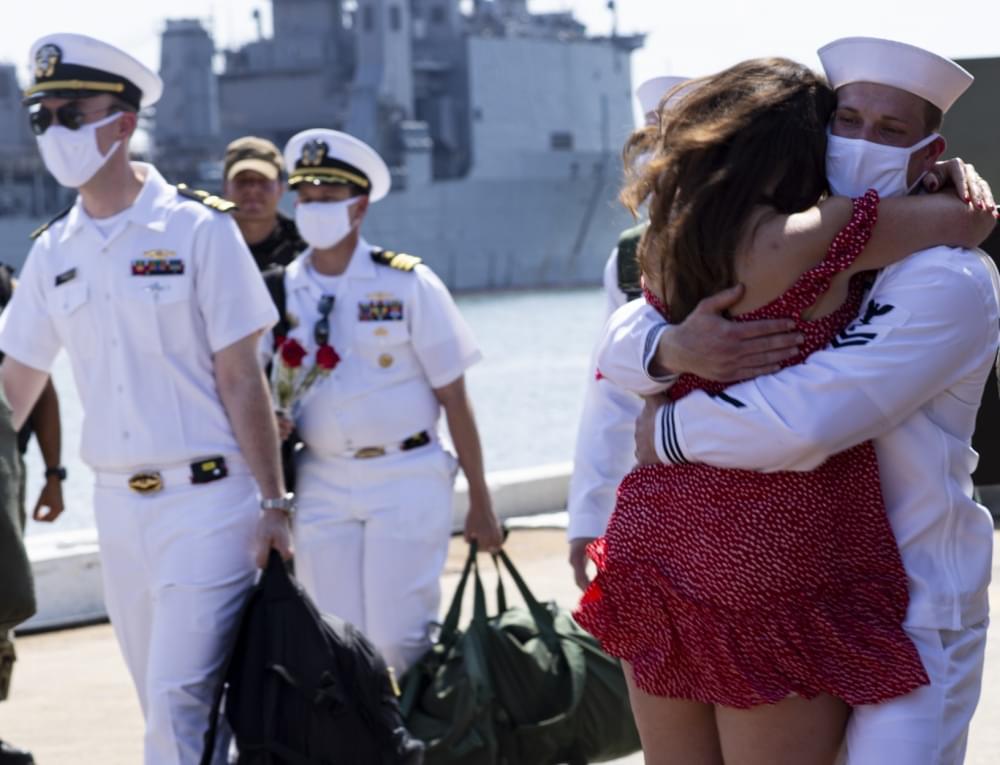 Newport News' namesake ship, USS Newport News, Returns from Deployment