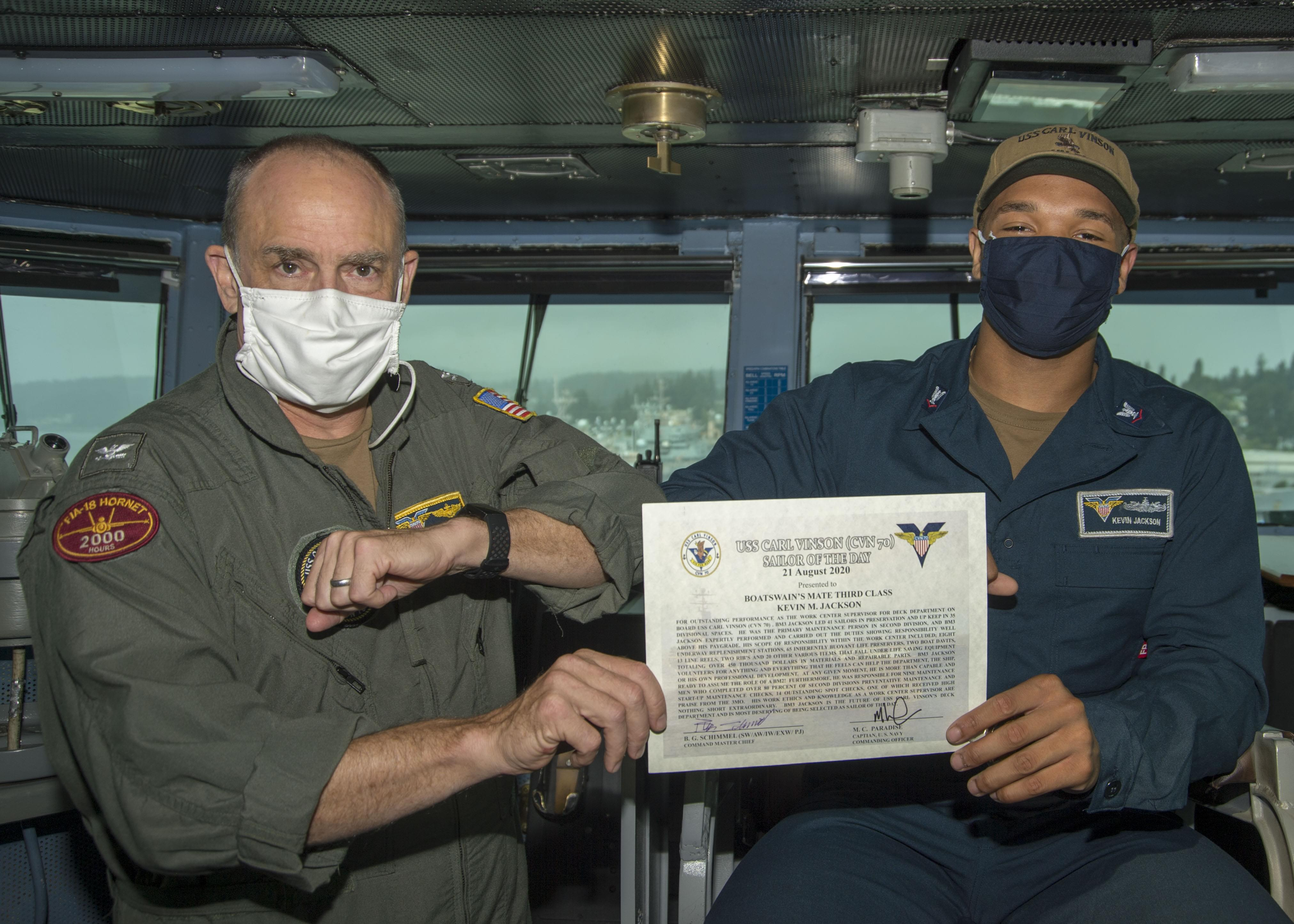 "Virginia Beach Native is USS Carl Vinson's ""Sailor of the Day"""