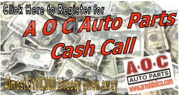 Cash Call Banner Arnold Oil