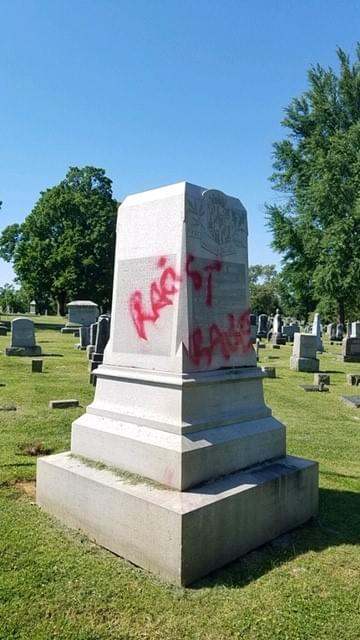 Statues At Mount Olivet Cemetery Vandalized