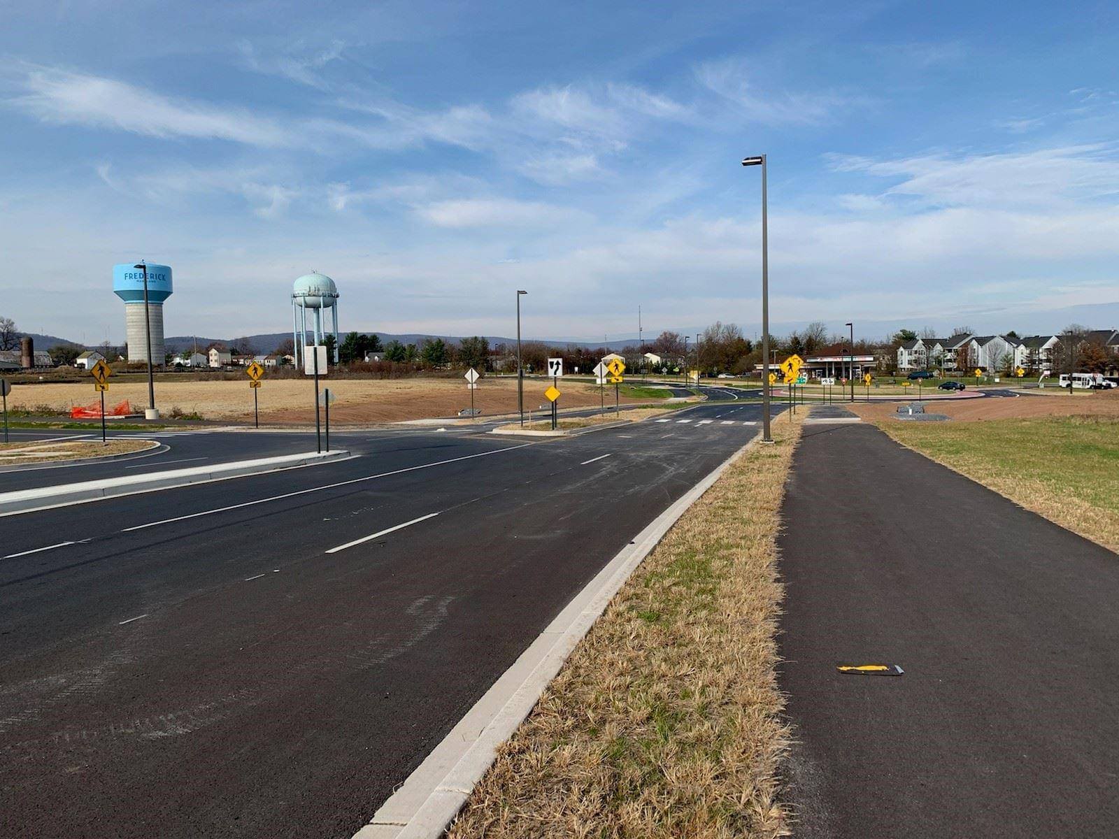 Himes Avenue Roundabout Opens