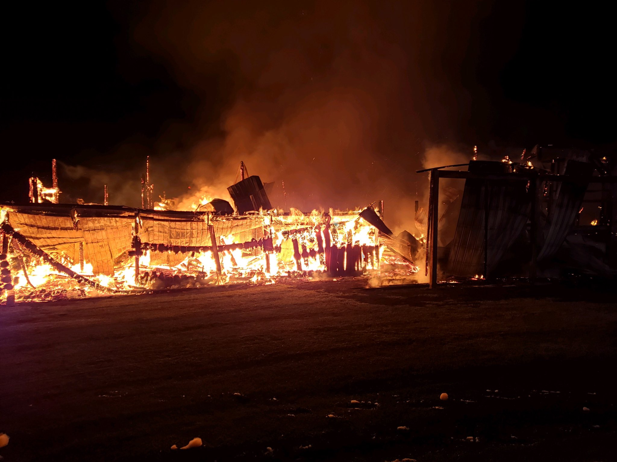 Fire Fighters Battle Barn Fire In Barnesville Early Tuesday Morning