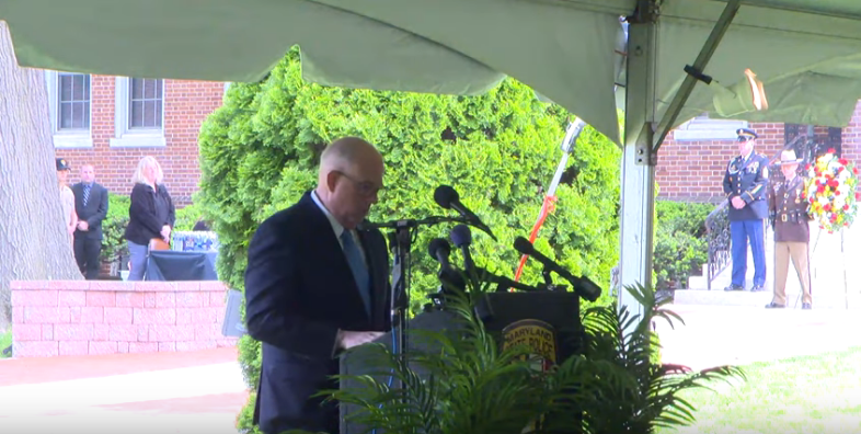 Fallen Troopers, A Deputy Fire Marshal, Remembered In Ceremony At Md. State Police Headquarters