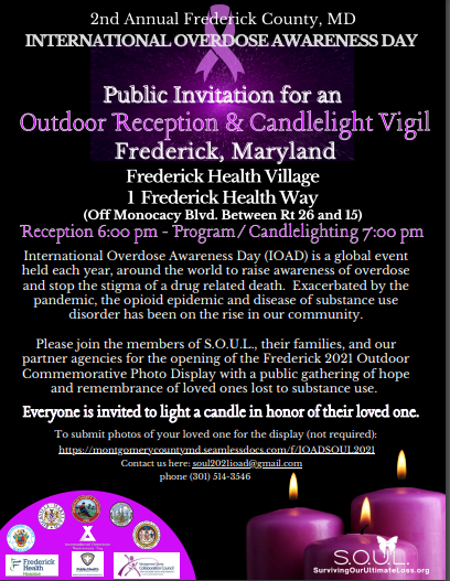 Candlelight Vigil To Commemorate Lives Lost To Overdoses Set To Take Place In Frederick