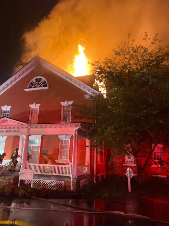 Flames Fly From Hood College's Oldest Building
