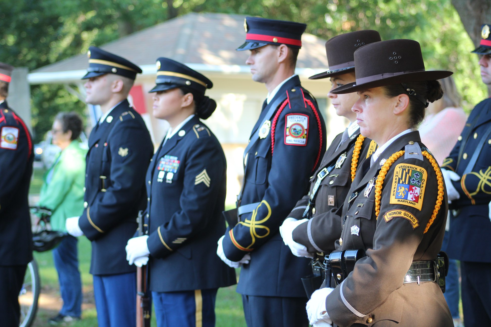Local Government And Military Hold 9/11 20th Anniversary Remembrance Ceremony