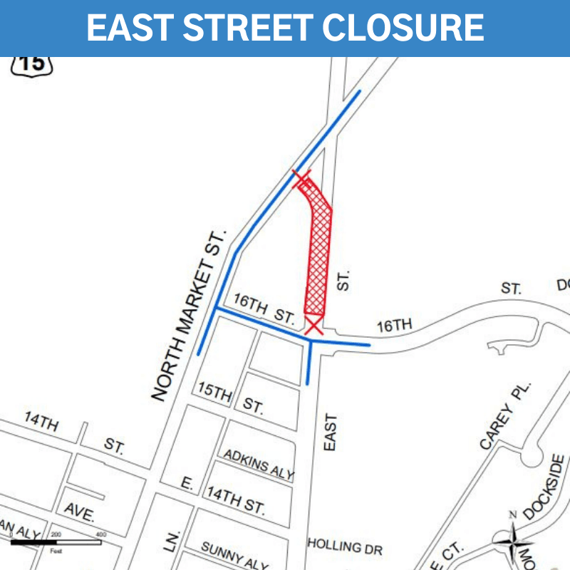 Part Of East St In Frederick To Be Closed Later This Month
