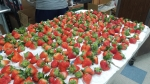 strawberries on a table