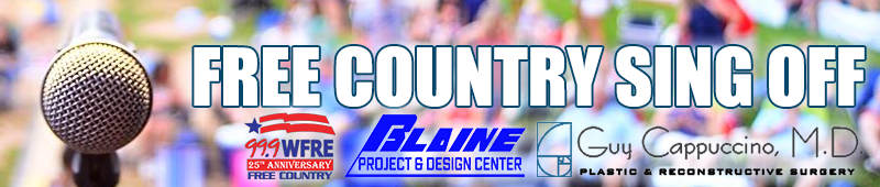 Free Country 99.9 WFRE, Dr. Cappuccino and Blaine Project and Design Center are looking for a local singer to sing the Star Spangled Banner at this years Party in the Park.  It's the Free Country Sing Off. The winner gets $250 Amazon gift card and VIP tickets to Party in the Park.