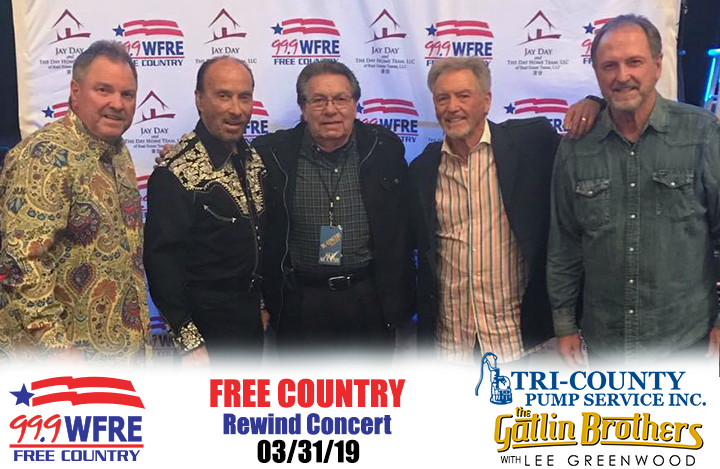 WFRE with Gatlin Brothers and Lee Greenwood