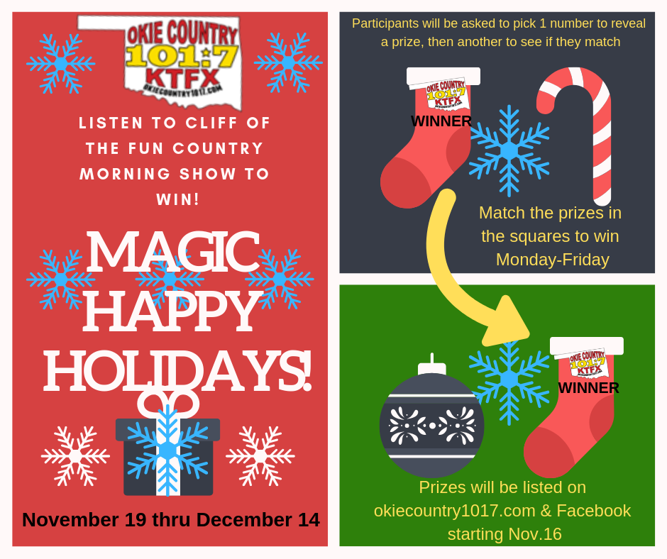 KTFX Magic Holiday Squares 2018