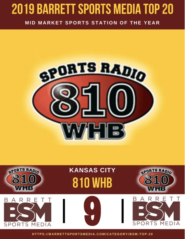 Sports Radio 810 receives five Mid Market Top-20 awards from Barrett Sports Media