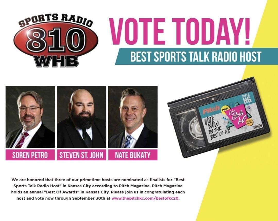 "Three 810 Hosts Finalists for Pitch Magazine's ""Best Sports Talk Radio Host"" Award"