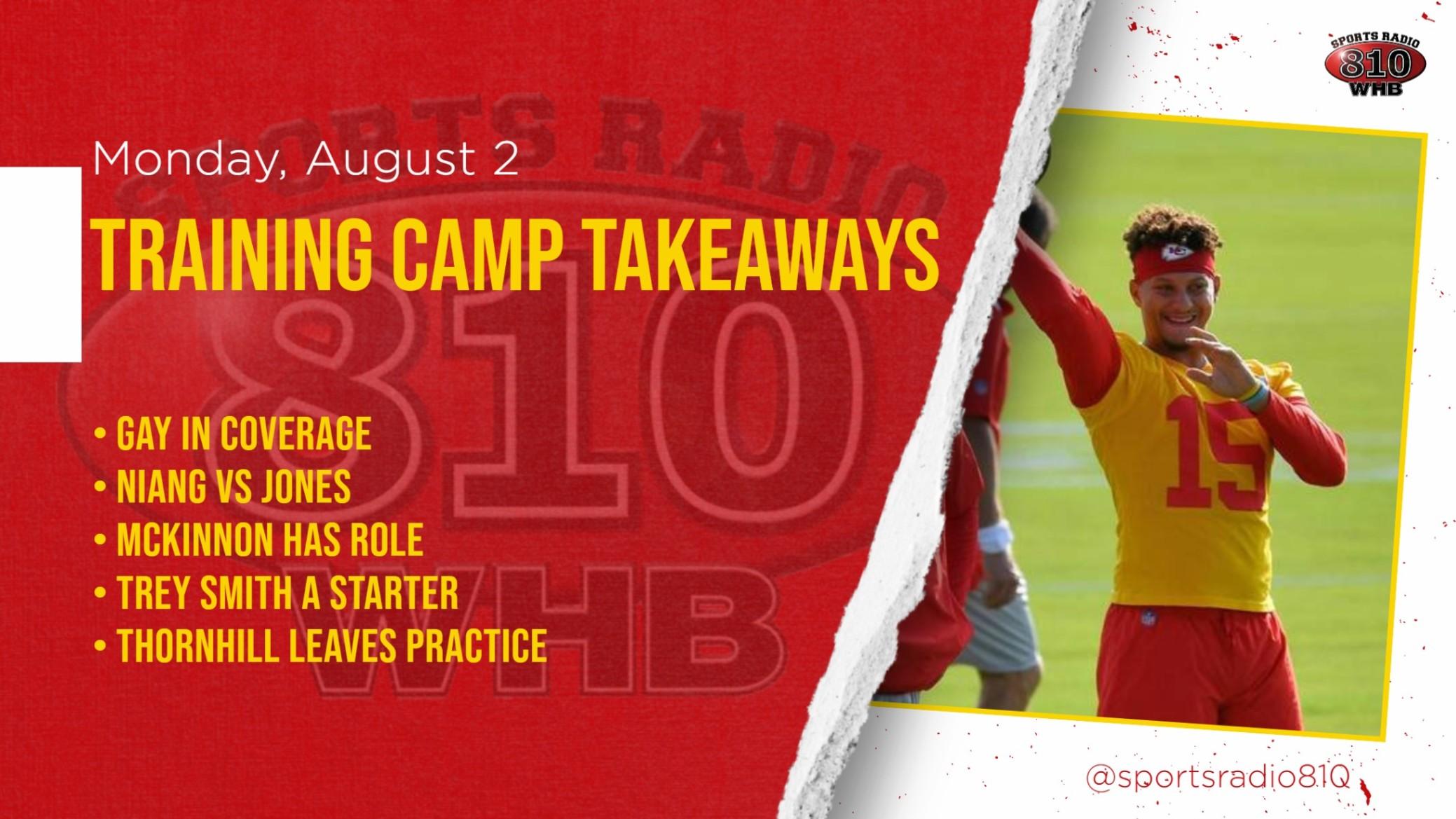 Training Camp Takeaways