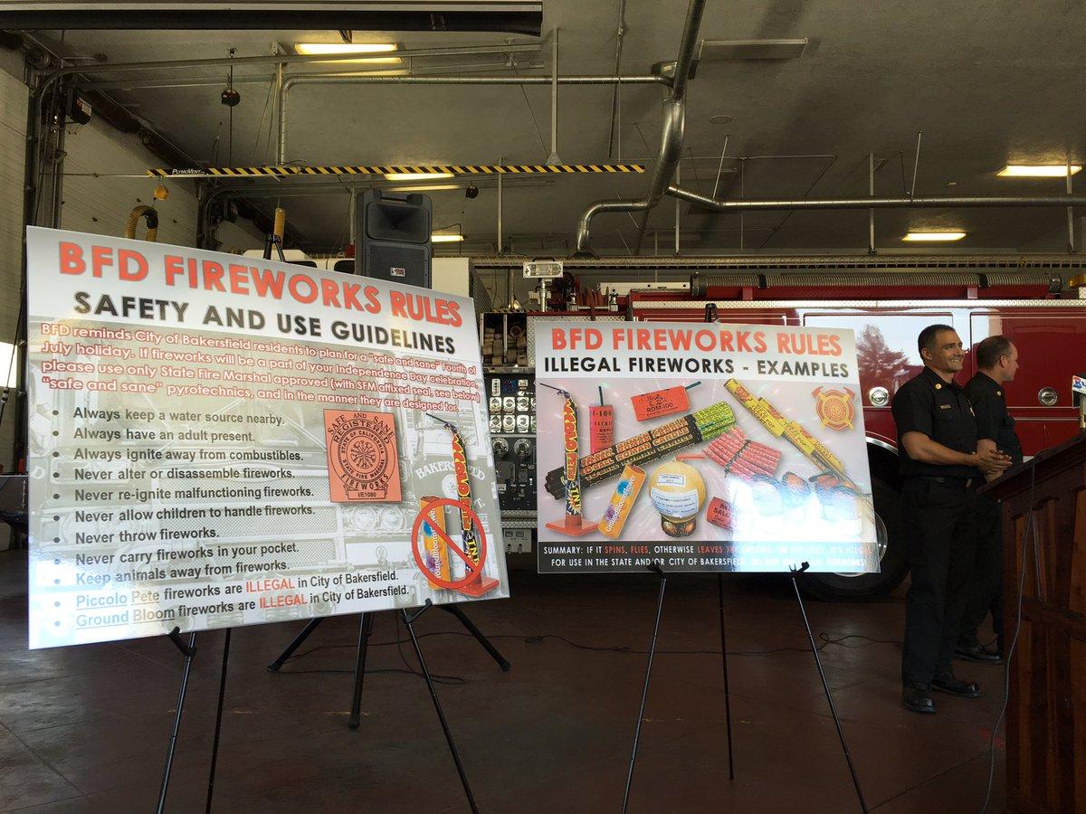BAKERSFIELD FIREMEN FIGHTING FIREWORKS