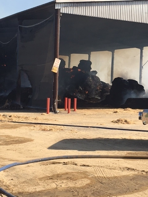 HAY GOES UP IN SMOKE