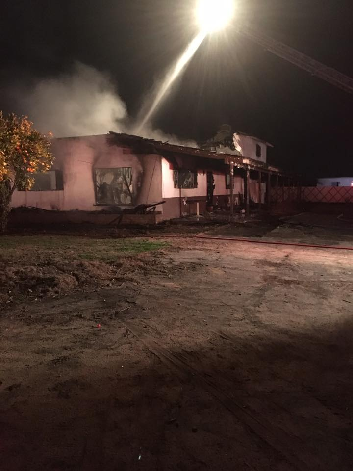 NW BAKERSFIELD HOME BURNS DOWN AFTER TWO FIRES