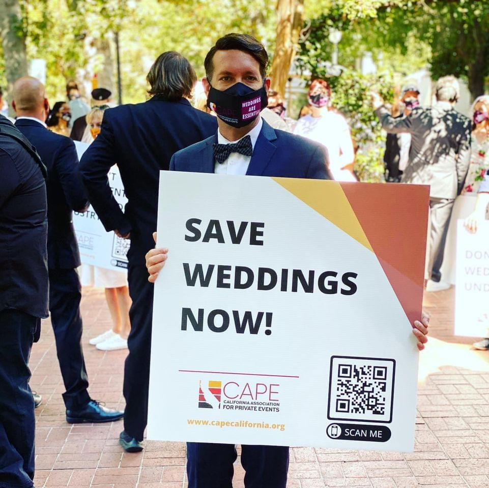 Private Event Industry Protests At Capitol