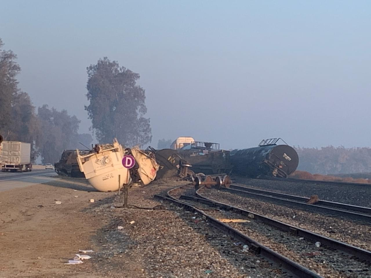 Train Derailment Near Visalia