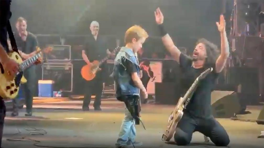 Video: Foo Fighters perform 'Everlong' with Anthrax's Scott Ian's 8-year-old son