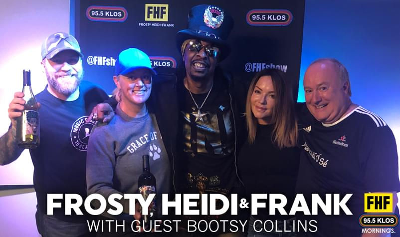 Frosty, Heidi and Frank with guest Bootsy Collins