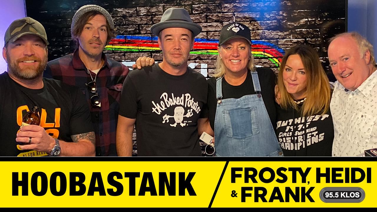 Frosty, Heidi and Frank with guest Hoobastank