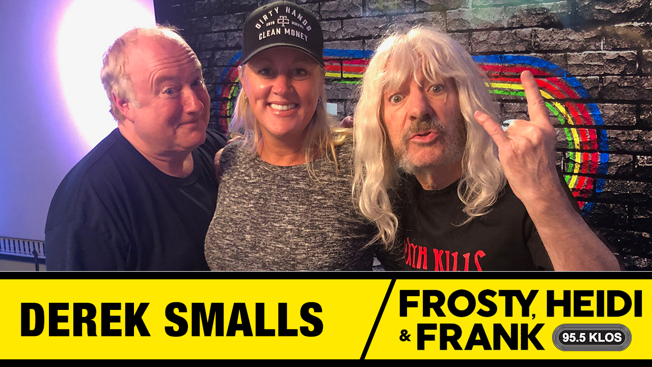 Frosty, Heidi and Frank with guest Derek Smalls