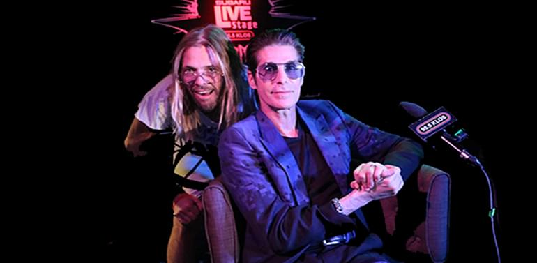 Taylor Hawkins & Perry Farrell on the KLOS Subaru Live Stage in the Viper Room