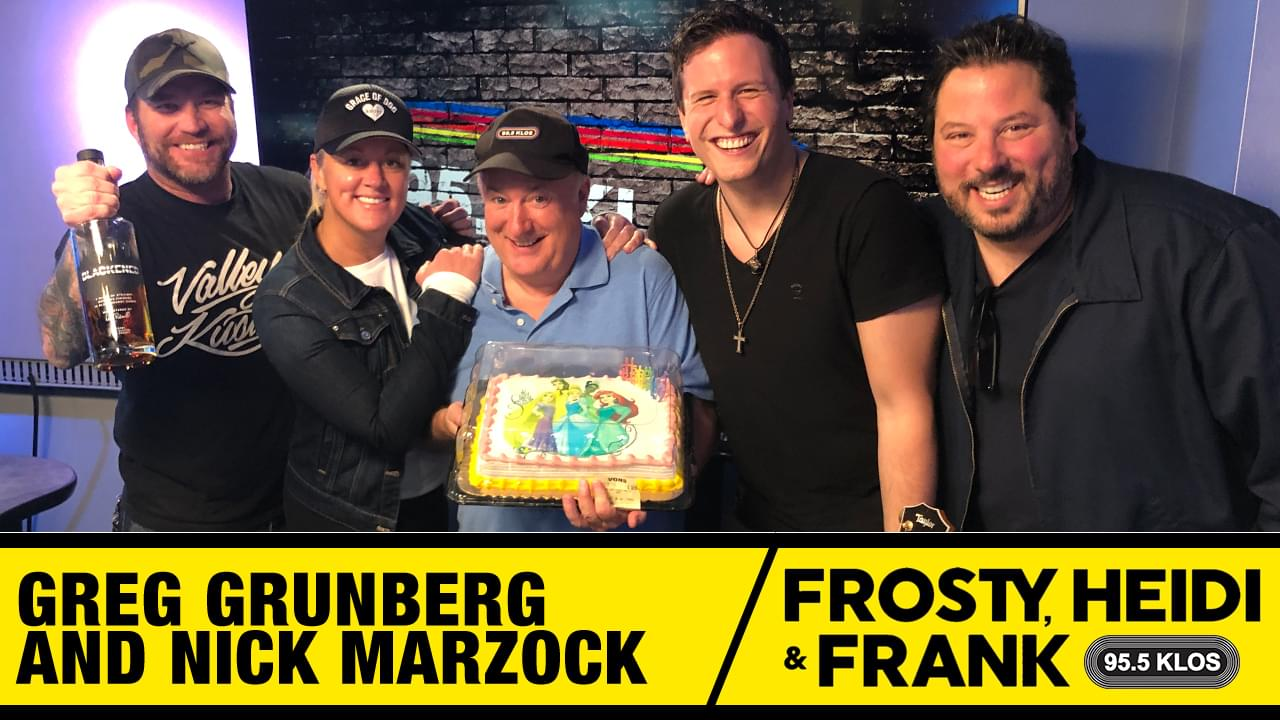Frosty, Heidi and Frank with guest Greg Grunberg and Nick Marzock