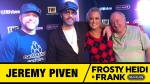 Frosty, Heidi and Frank with guest Jeremy Piven