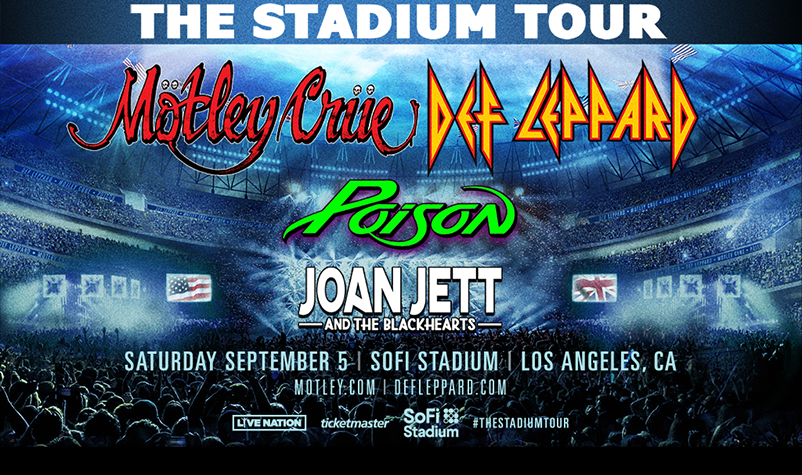 MÖTLEY CRÜE, Def Leppard and Poison Announce Stadium Tour!