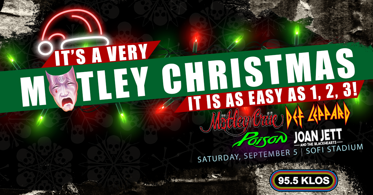 HAVING A VERY MÖTLEY CHRISTMAS IS AS EASY AS 1, 2 3!
