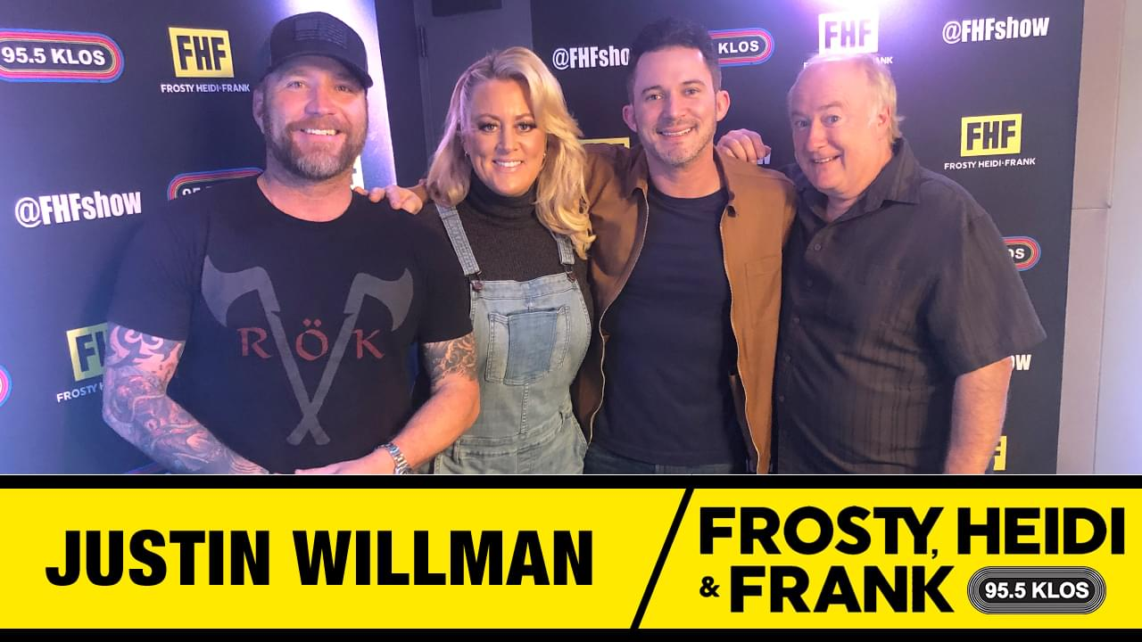Frosty, Heidi and Frank with guest Justin Willman