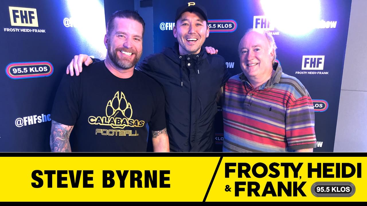 Frosty, Heidi and Frank with guest Steve Byrne