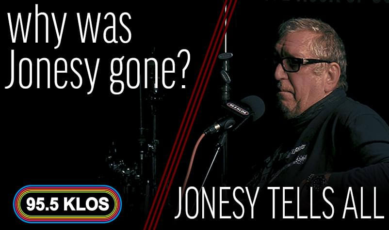 Why Was Jonesy Gone? He Tells All
