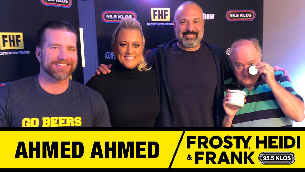 Frosty, Heidi and Frank with guest Ahmed Ahmed