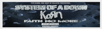 System Of A Down + Korn, Faith No More, Helmet, and Russian Circles