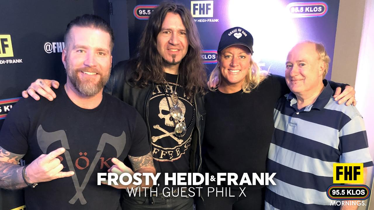 Frosty, Heidi and Frank with guest Phil X