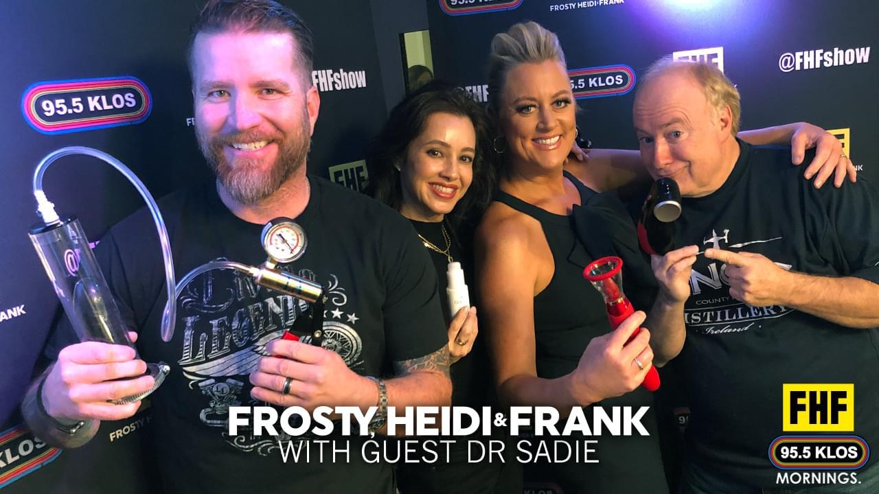 Frosty, Heidi & Frank with Guest Dr. Sadie