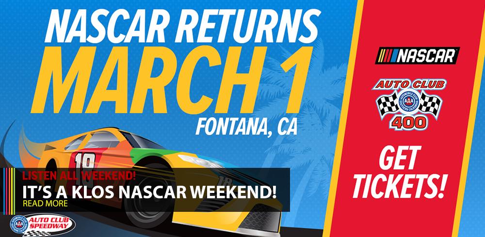 IT'S A KLOS NASCAR WEEKEND!