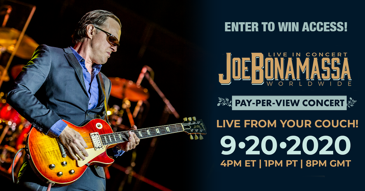 Enter to Win Access: Joe Bonamassa Live In Concert Worldwide Livestream