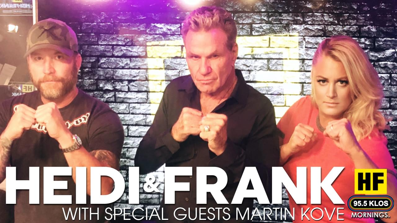 Heidi and Frank with guest Martin Kove