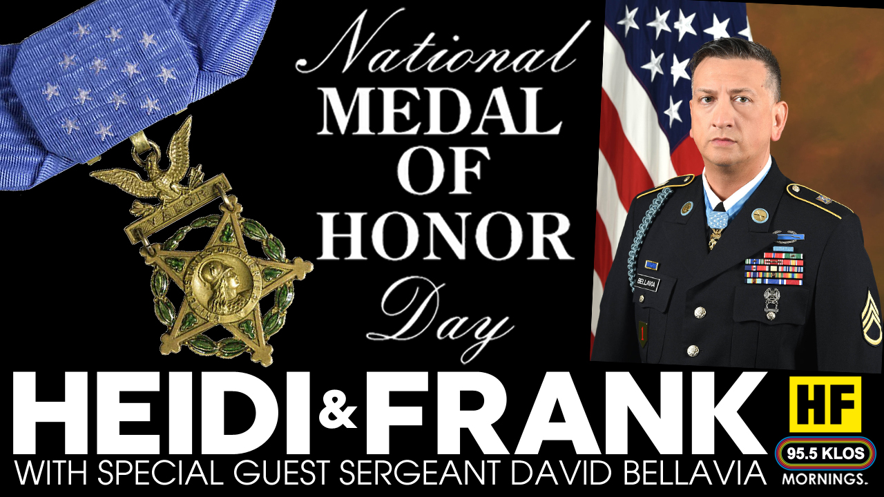 Heidi and Frank with guest Sergeant David Bellavia