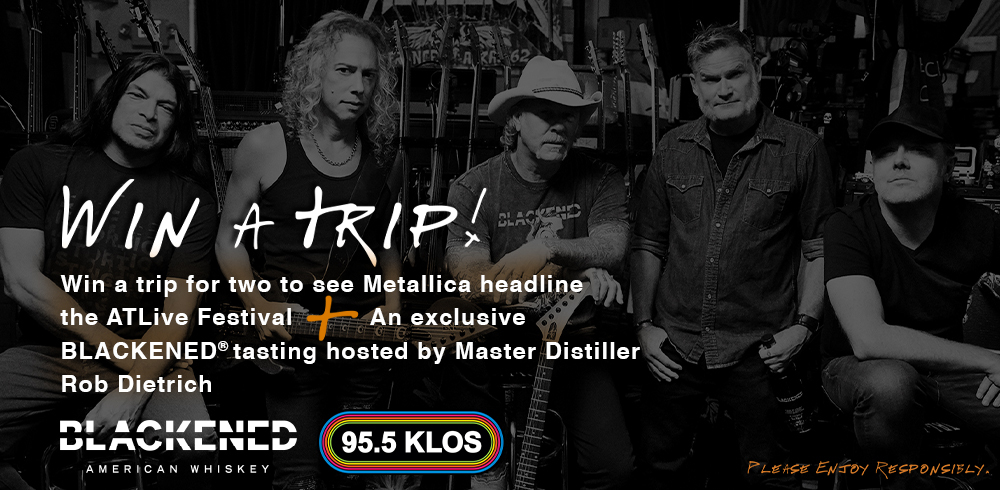 KLOS and Blackened American Whiskey have your shot to see Metallica