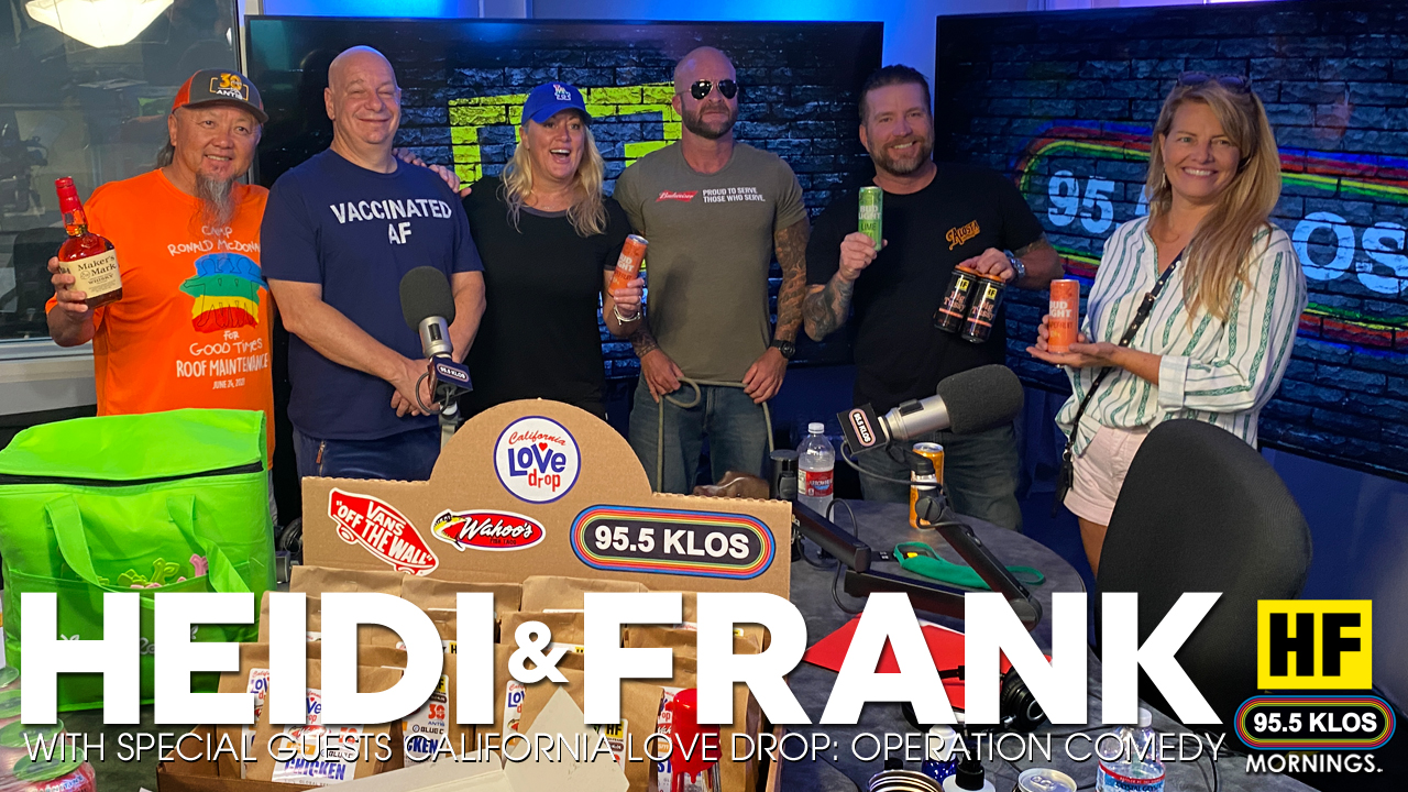 Heidi and Frank with guests the California Love Drop: Operation Comedy