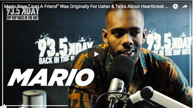 "Mario Says ""Just A Friend"" Was Originally For Usher & Talks Heartbreak On ""Drowning"" [WATCH]"