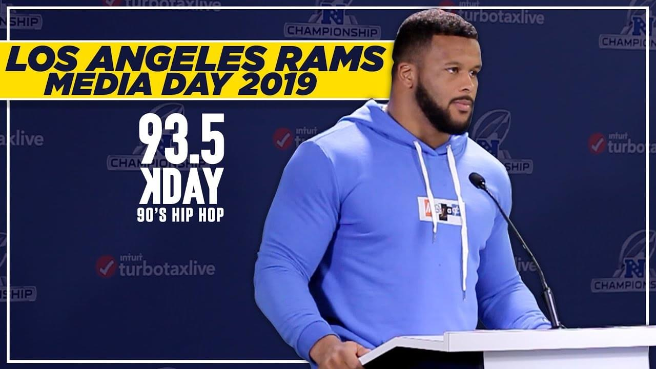 Los Angeles Rams Media Day 2019: Aaron Donald, Training Camp + MORE