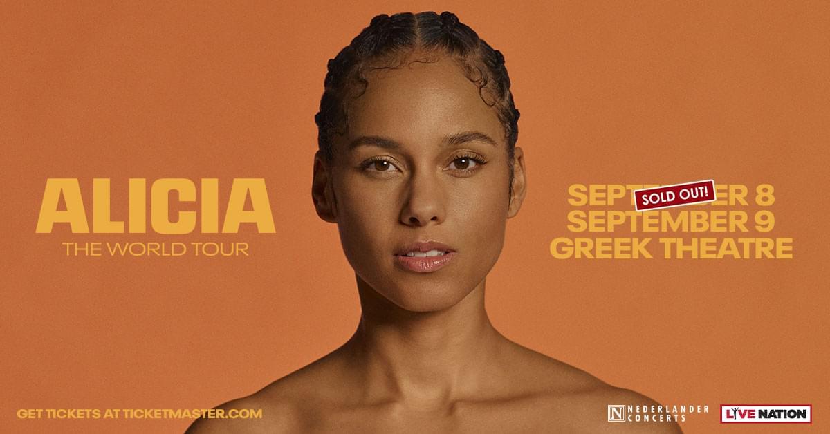 Alicia Keys:  ALICIA The World Tour