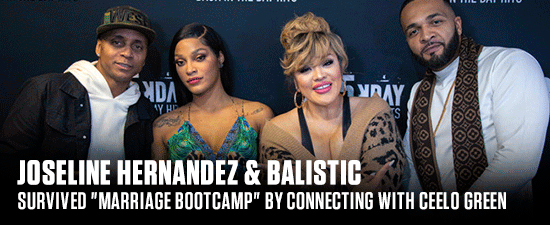 """Joseline Hernandez & Balistic Survived """"Marriage Bootcamp"""" By Praying & Connecting With CeeLo Green"""