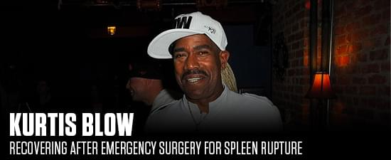 Kurtis Blow Recovering After Emergency Surgery For Spleen Rupture